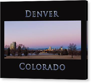 Denver Colorado Sunrise Canvas Print