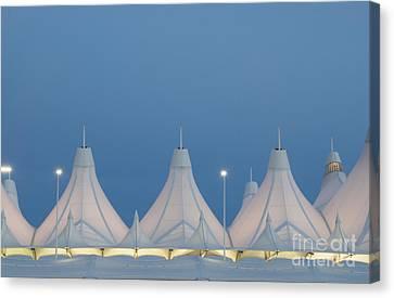 Denver International Airport At Dusk Canvas Print by Juli Scalzi