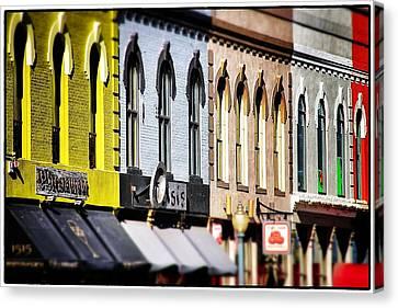 Denver Market Street Tilt Shift Canvas Print by For Ninety One Days