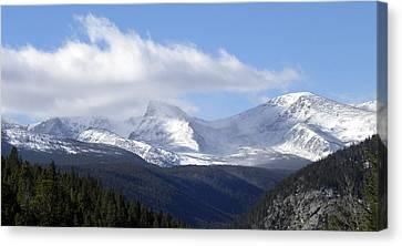 Denver Mountains Canvas Print by Julie Palencia