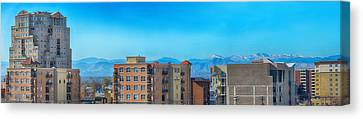 Rooftop Canvas Print - Denver Rooftops Panorama by Angelina Vick
