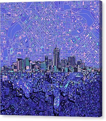 Denver Skyline Abstract 4 Canvas Print