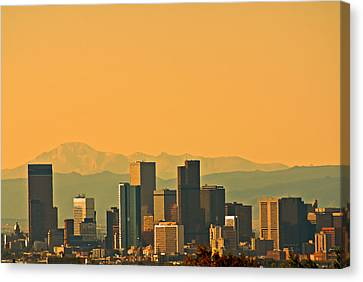 Denver Skyline Canvas Print by Colleen Coccia