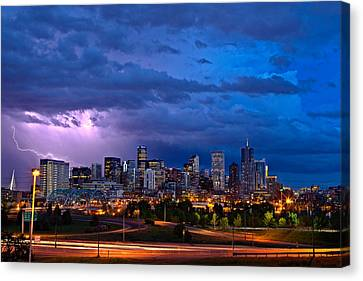 Denver Skyline Canvas Print by John K Sampson