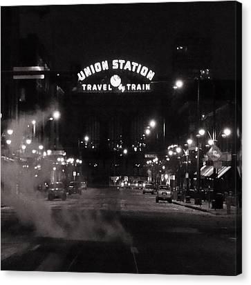 Denver Union Station Square Image Canvas Print