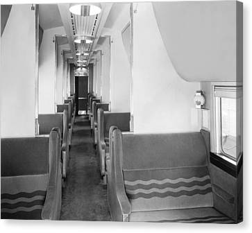 Stainless Steel Canvas Print - Denver Zephyr Pullman Car by Underwood Archives