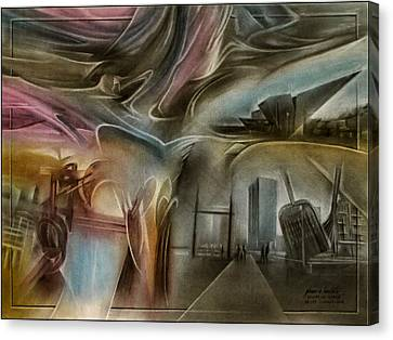 Canvas Print featuring the pastel Denvermuseumcomp 2010 by Glenn Bautista