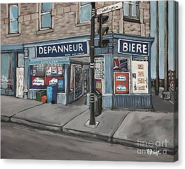 Depanneur Safa Wellington Street  Canvas Print by Reb Frost