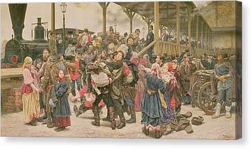Departing For The War, 1888 Canvas Print