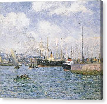 Departure From Havre Canvas Print by Maxime Emile Louis Maufra