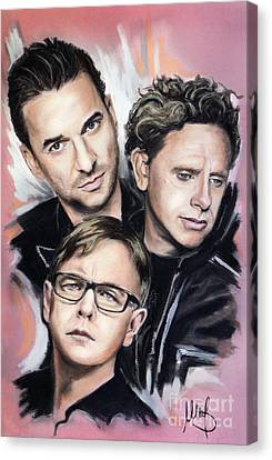 Depeche Mode Canvas Print by Melanie D