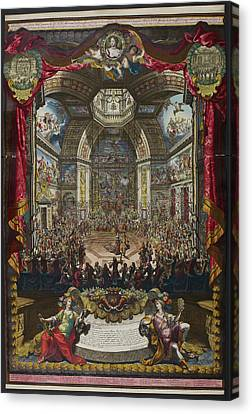 Depiction Of The Great Ball Canvas Print by British Library