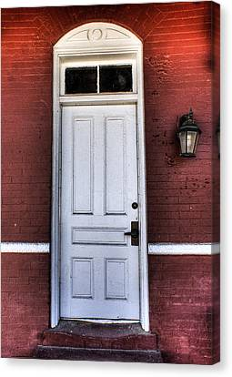 Depot Door Canvas Print by Rebecca Hiatt