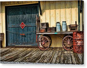 Depot Wagon Canvas Print by Kenny Francis