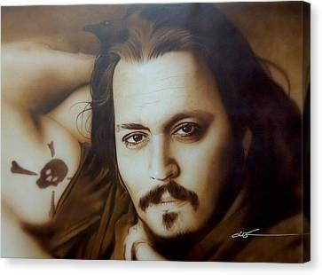 Johnny Depp - ' Depp II ' Canvas Print by Christian Chapman Art