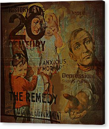 Depression In The 20th Century - 2 Canvas Print by Jeff Burgess