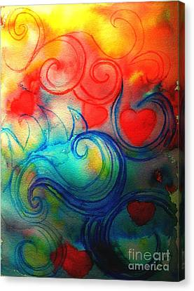 Canvas Print featuring the painting Depths Of His Love by Hazel Holland