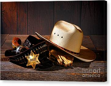 Deputy Sheriff Gear  Canvas Print by Olivier Le Queinec
