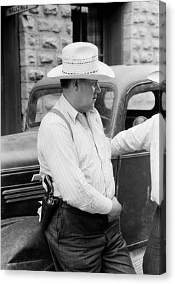 Deputy Sheriff - Mogollon New Mexico 1940 Canvas Print by Mountain Dreams