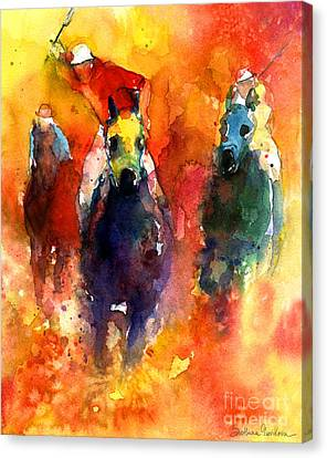 Derby Horse Race Racing Canvas Print by Svetlana Novikova