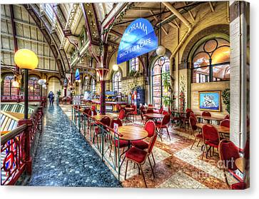 Derby Market Hall Cafe Canvas Print by Yhun Suarez