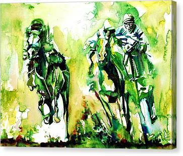 Derby Race.1 Canvas Print by Fabrizio Cassetta
