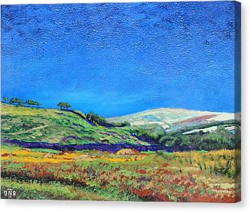 Derbyshire Landscape, 1999 Oil On Board Canvas Print