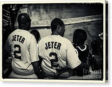 Derek Jeter Family New York City Canvas Print