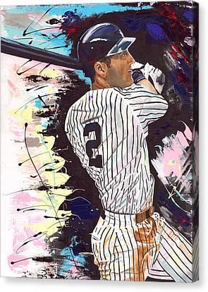 Derek Jeter Canvas Print by Jeff Gomez