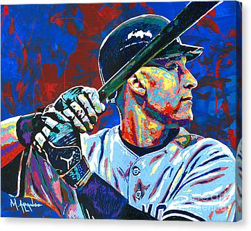 Major Leagues Canvas Print - Derek Jeter by Maria Arango
