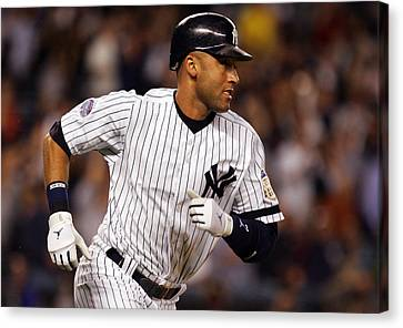 Derek Jeter New York Yankees Canvas Print by Retro Images Archive
