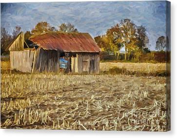 Derelict Barn Canvas Print by Jutta Maria Pusl