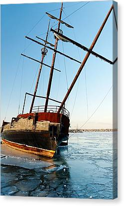 Derelict Faux Tall Ship Canvas Print