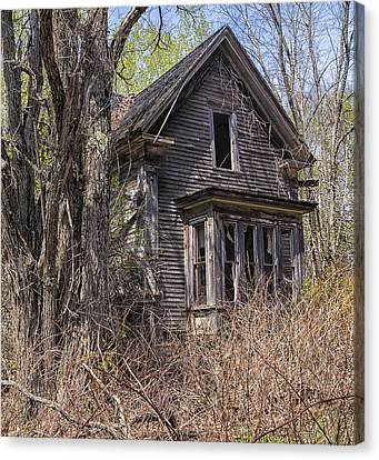 Canvas Print featuring the photograph Derelict House by Marty Saccone