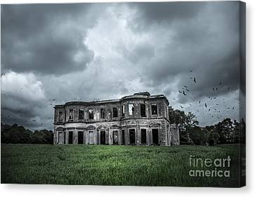 Derelict Mansion  Canvas Print by Svetlana Sewell