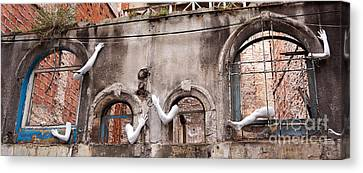 Derelict Wall Of Lost Limbs 02 Canvas Print by Rick Piper Photography