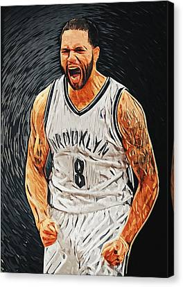 Deron Williams Canvas Print by Taylan Apukovska