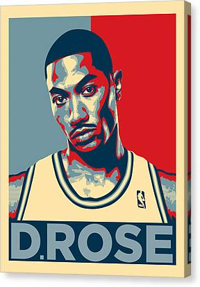 Derrick Rose Canvas Print by Taylan Apukovska