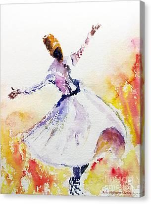 Sufi  Or Dervish Dancer Canvas Print