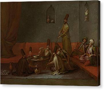 Sharing Canvas Print - Dervishes Sharing A Meal, Jean Baptiste Vanmour by Litz Collection