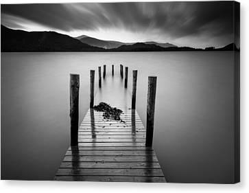 Mooring Canvas Print - Derwent Water Jetty by Dave Bowman