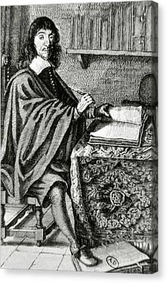 Descartes, Rene (la Haye, Touraine Canvas Print by Prisma Archivo