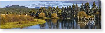 Deschutes River Panorama Canvas Print by Twenty Two North Photography