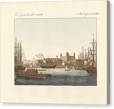 Description Of The Tower Of London Canvas Print by Splendid Art Prints