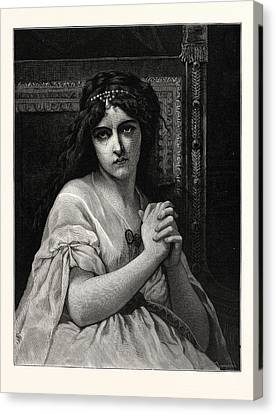 Desdemona. After Cabanal. Desdemona Is A Character Canvas Print by English School