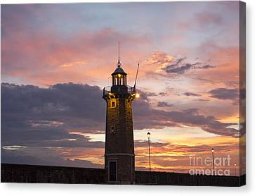 Desenzano Del Garda The Old Harbor Lighthouse Canvas Print by Kiril Stanchev