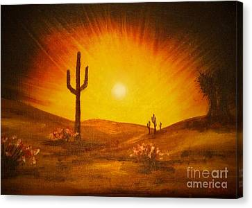Desert Aglow Canvas Print