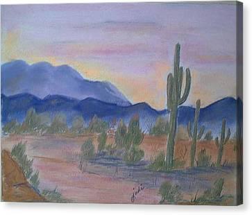 Desert Aglow Canvas Print by Judi Pence