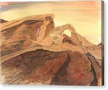 Desert Arch Canvas Print