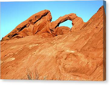 Desert Arch Canvas Print by Laura Palmer